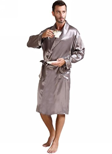 Satin Bathrobe Nightgown Big S 3XL Plus Gifts 7 12days