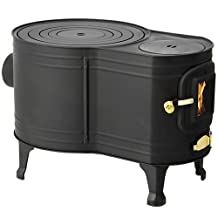Asw-60b Wood Stove Type Heat-resistant Paint Finish Black Stainless Steel Watch (japan import)
