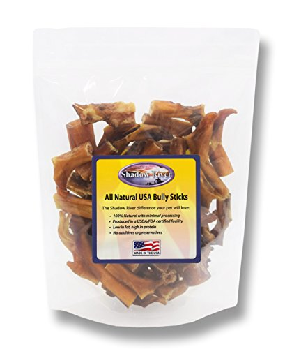 Shadow River 2 Pounds All Natural Beef Bully Stick Bites for Dogs