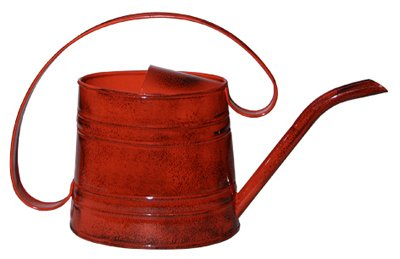 Robert Allen MPT01507 Watering Can, Metal, Red, .5-Gal. - Quantity 6