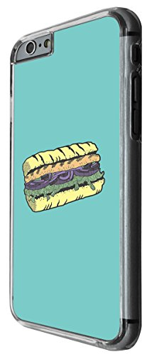 1063 - cool fun doodle food sub sandwich food lover junk food take away Design For iphone 4 4S Fashion Trend CASE Back COVER Plastic&Thin Metal -Clear