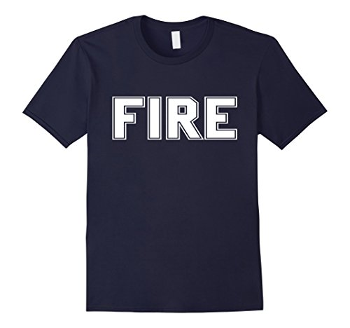 Mens Firefighter Halloween Costume T Shirt Large (Firefighter Halloween Costume Men)