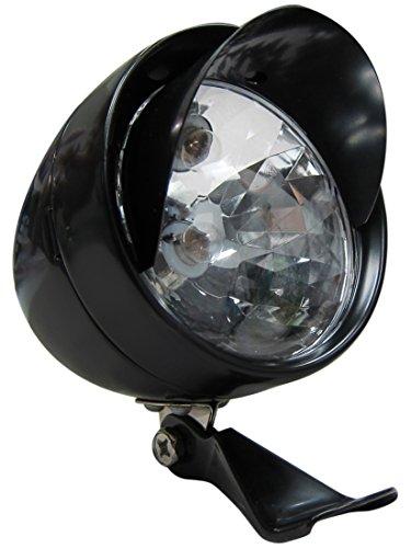 Bullet Headlamp - Flying Horse Retro Style Bicycle LED Bullet HeadLight - Gas Powered Motorized Bike Head Lamp (Black)