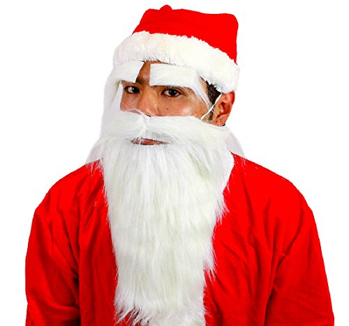 Santa Claus Costume Accessories -- Polyester Eyebrows & Mustache & Beard ()