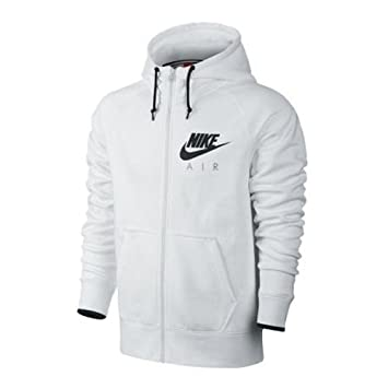 Nike AW77 Pull à capuche polaire Full Zip Hoody Air Heritage, blanc noir, cfebc65e0ce2
