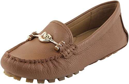 Coach Womens Arlene Moccasin Saddle Pebble Grain Leather Sandals 6.5 B US Women by Coach