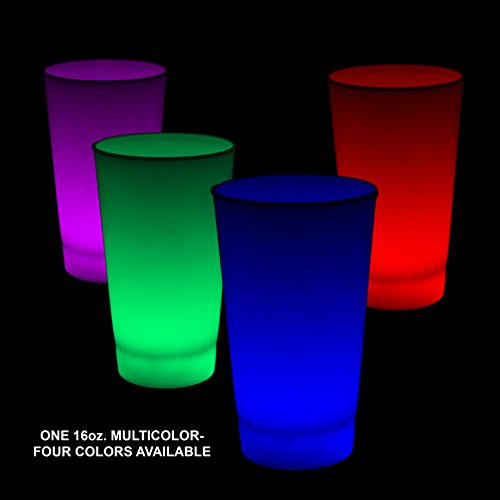 Fun Central (I772) Glow in the Dark LED Light Up Cup - 16oz Multicolor - 6pc