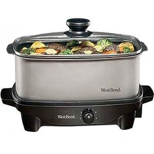 Focus Electrics West Bend 84905 Oblong Slow Cooker, 5-Quart