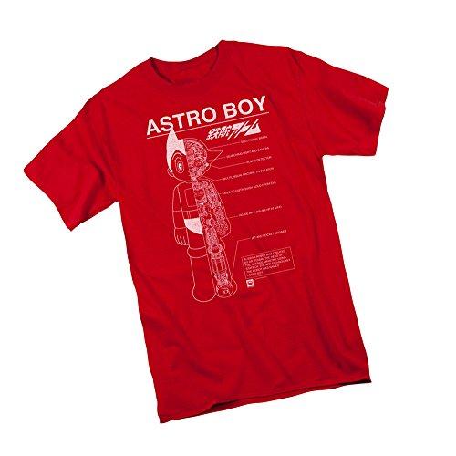 Astro Boy Merchandise (Schematics -- Astro Boy Adult T-Shirt, X-Large)