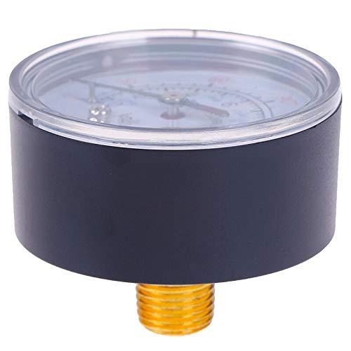0 a 12 bar Terrarum Hot filettatura da 0 a 180 psi Manometro a doppia scala per compressore daria da 13 mm