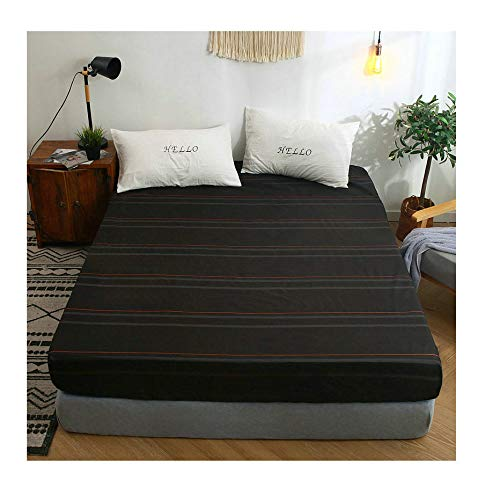 """Checkers Protector Case (KFZ Plaid Lattice Printed Fitted Sheet Bedsheet Protector Without Pillowcases for Kids Single Double Bed 4 Sizes Stripe Checker Plain Designs 1PC (Lattice Plaid A3, 35""""x80"""" 1pc))"""