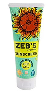 Zebs Organics Sunscreen 8oz, Natural & Organic, SPF 20