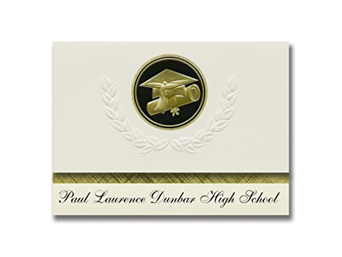 Signature Announcements Paul Laurence Dunbar High School (Baltimore, MD) Graduation Announcements, Presidential Basic Pack 25 Cap & Diploma Seal. Black & Gold. (Paul Laurence Dunbar High School Baltimore Md)