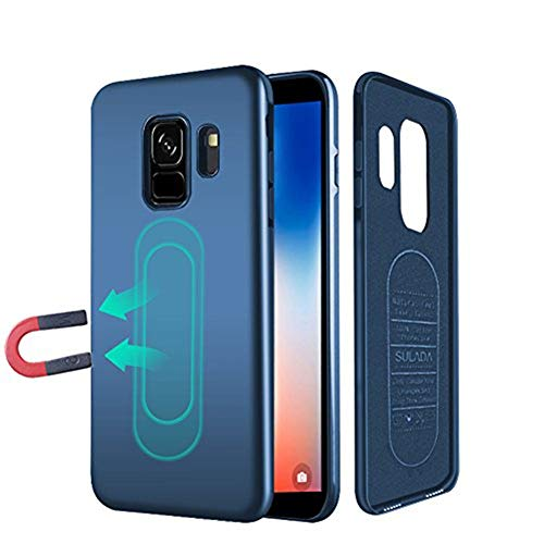 Case for Samsung Galaxy S9 Plus,Ultra Thin Magnetic Phone Case for Magnet Car Phone Holder with Built-in Metal Plate,Soft TPU Shockproof Anti-Scratch Protective Cover for Galaxy S9 Plus 6.2[Blue]