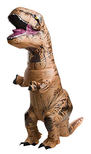Old Guy Halloween Costumes (Rubie's Adult Official Jurassic World Inflatable Dinosaur Costume, T-Rex,)