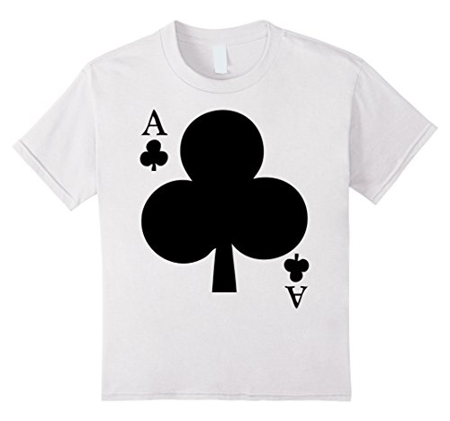 Kids Deck Of Cards Halloween Costume Ace Of Clubs Matching Friend 4 White