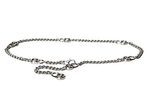 Michael Kors Mk Logo Hamilton Lock Silver Chain Belt L/XL
