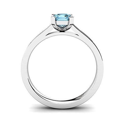 Pave Individueller Kristallen Aquamarin In Mit Luxusetui Im 10 Und