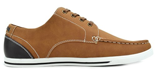 Bruno Marc New York Bruno Marc Mens Rivera Oxfords Chaussures Sneakers Brun Pu