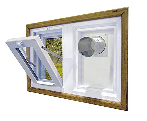 """Dryer Vent and Hopper Window - 30""""w x 16""""h Right Side Vent"""
