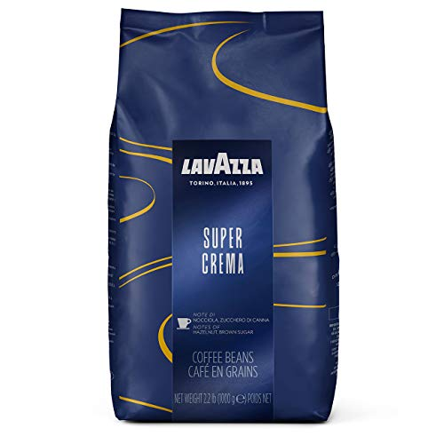 Lavazza Super Crema Whole Bean Coffee Blend, Medium Espresso Roast, 2.2 Pound (Pack of 1) (Us-shop)