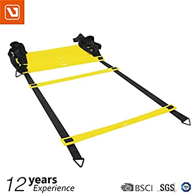 Escalera de coordinación – 4 M – Agility Ladder – Dispositivo de entrenamiento: Amazon.es: Deportes y aire libre