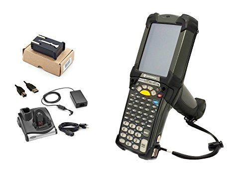 Symbol MC9090 Handheld Mobile Computer 2D Barcode Scanner Kit: CRD9000-1000 Cradle, Windows Mobile 5.0, WiFi, 53 Key, MC9090-GK0HJEFA6WR
