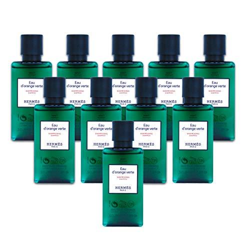 Hermès Eau d'Orange Verte Luxury Shampoo with D-Pantenol Vitamins in Bubble Bag - Set of 10 X 1.35 Ounce/40 ML Bottles, Total 13.5 Ounce/400 ML from Hermes Paris (Best Luxury Shampoo In The World)