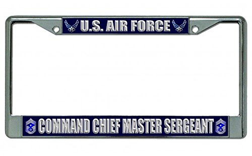 Chief Master Of The Air Force - U.S. Air Force Command Chief Master Sergeant Chrome License Plate Frame