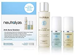 Neutralyze Anti Acne Solution enhances your skin's natural healing capabilities, rendering acne - and the inflammation and redness that accompany it - totally powerless. We've discovered the secret to treating moderate to severe acne: ...