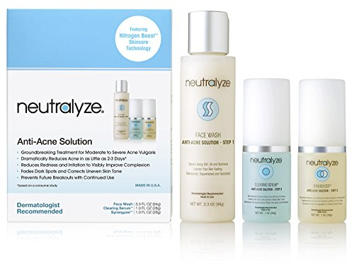 Neutralyze Moderate To Severe Acne Treatment Kit (30 Day) - Maximum Strength Anti Acne Medication With Salicylic Acid + Mandelic Acid + Nitrogen Boost Skincare Technology (Best Skincare For Teens)