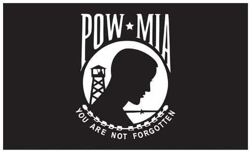 """Military POW MIA Not Forgotten 12/""""x 18/"""" Two Sided Outdoor 200denier Flag"""