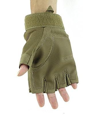 No.66 Town Men's Tactical Driving Fingerless Work Gloves