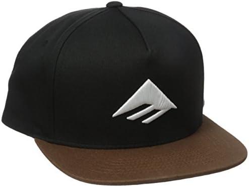 e8fcbf1ca Emerica Men's Triangle Snapback Cap, Black/Brown, One Size: Amazon ...