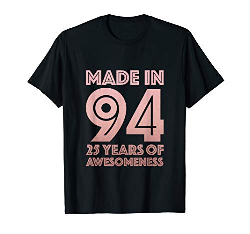 25th Birthday Shirt Women Gifts 25 Year Old Daughter Sister
