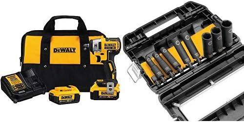 """DeWalt DCF890M2 20V MAX Brushless 3//8/"""" Impact Wrench Kit 2 x 4.0 Batteries"""