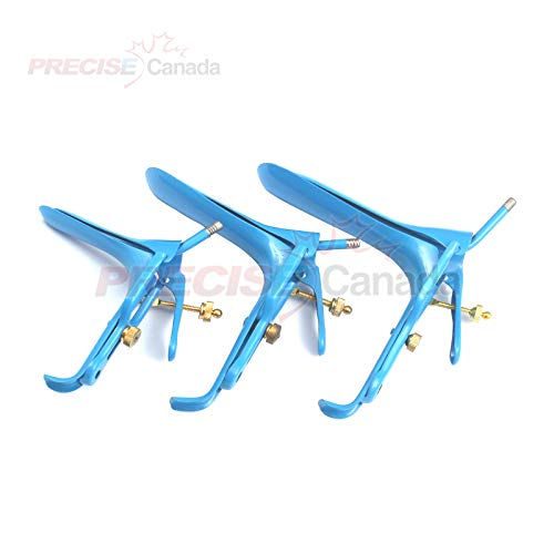 (Precise Canada: Lot of 3 Pieces Blue Coated Lletz Leep Graves Speculum Small, Medium, Large)