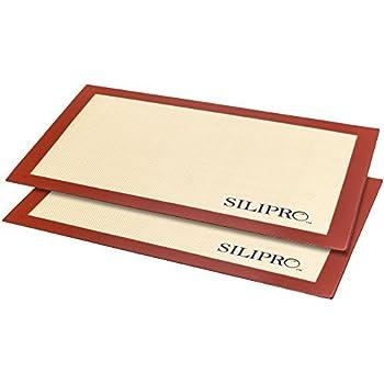 Amazon Com Silipro Non Stick Silicone Baking Mat Set 2pk
