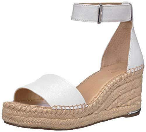 - Franco Sarto Women's Clemens Espadrille Wedge Sandal White 10 M US