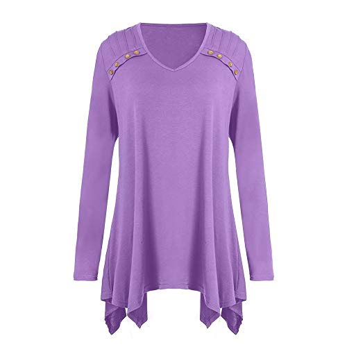 T t Sweatshirts Overmal Tops Blouse Shirt Taille Lache Clubwear Violet Chic Top Imprim Manches Haut Grande Chemise Femmes Longue Sexy Dcontracte Crop Vetements Simple Casual Mode vgqrx7v