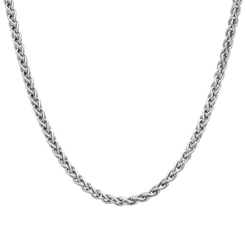 2mm solid sterling silver 925 Italian SPIGA wheat chain necklace chocker bracelet anklet with lobster claw clasp jewelry - 15, 20, 25, 30, 35, 40, 45, 50, 55, 60, 65, 70, 75, 80, 85, 90, 95, 100cm Cozmos Jewelry