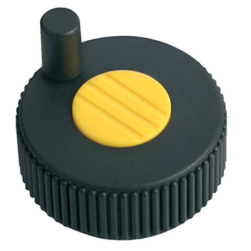 Bright Yellow Wheel Cap Color 57 mm Height Size 3 Metric Kipp 06268-13087 Thermoplastic Novo/·Grip Grey with Tapped Set Screw Hole Positioning Wheels Style M Pack of 10 63 mm Diameter