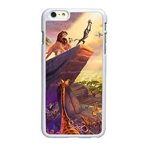 Funda iPhone 6 6S caso del teléfono celular de 4.7 pulgadas funda blanca rey león E4F2PE