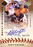2009 Upper Deck Sweet Spot Baseball #122 Matt Wieters Certified Autograph Rookie Card - Only 350 made!