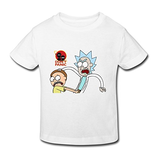 Price comparison product image Boys Girls (age 2-6) Rick And Morty Cotton T Shirt 4 Toddler White