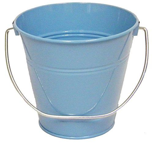 6 pack , Metal Bucket Light Blue 7.5 x 7.5