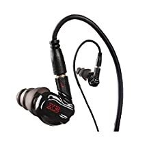GranVela Moxpad X3 Sound Isolating Earphones with Single Dynamic MicroDriver Sport HIFI In-Ear Headphones with Memory Wire and Inline Microphone and Detachable Cables with for iPhone 6, 6 Plus, 5S, 5C, 5, 4S, 4 / iPad 4, 3, 2, 1, Mini, Air (Retina Display models) / iPod Touch, Nano, Shuffle, Classic / Samsung Galaxy S5, S4, S3, Note 4, Motorola, Google Nexus, HTC, So, Nokia / Tablets & MP3, MP4 Players (3 Different Size Ear Inserts / Protection package / Retail Packaging) --Black