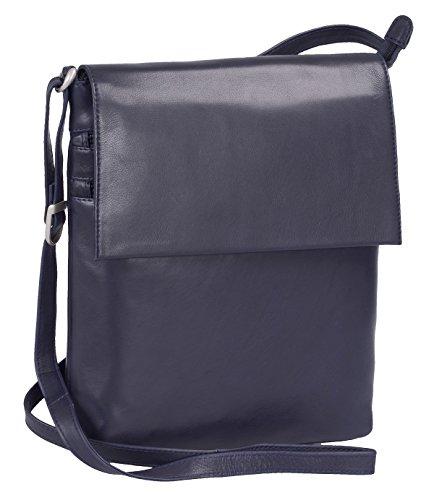 Bolso Oscuro Louana De Mujer 5cm Cuero 30x24x6 Azul r8rUnqxT