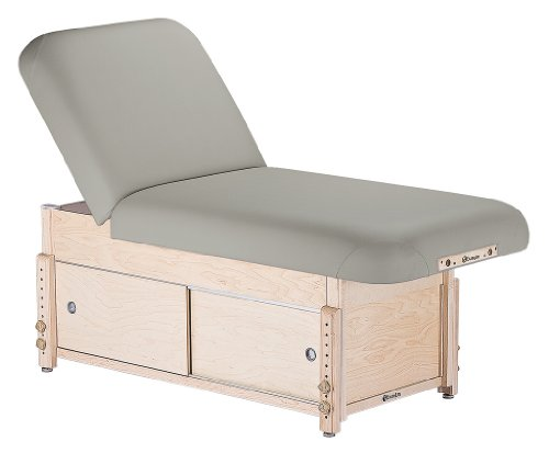 EARTHLITE Sedona Stationary Massage Table Tilt/Cabinet - Solid Hard Maple, 2 Bases, 3 Tops, 6 Colors, (28-32
