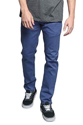 Victorious Men's Skinny Fit Colored Jeans DL937 - Light Blue - 32/30